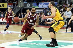09.12.2017, Audi Dome, Muenchen, GER, EasyCredit BBL, FC Bayern Muenchen Basketball vs MHP Riesen Ludwigsburg, 12. Runde, im Bild Zweikampf zwischen Reggie Redding (Muenchen) und Adam Waleskowski (Ludwigsburg) // during the easyCredit Basketball Bundesliga 12th round match between MHP Riesen Ludwigsburg and 12.Spieltag at the Audi Dome in Muenchen, Germany on 2017/12/09. EXPA Pictures &copy; 2017, PhotoCredit: EXPA/ Eibner-Pressefoto/ Marcel Engelbrecht<br /> <br /> *****ATTENTION - OUT of GER*****