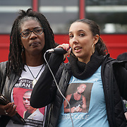 London, England, UK. 28th October 2017. The United Families and Friends Campaign (UFFC), a coalition of those affected by deaths in police, prison, and psychiatric custody held their annual march and rally to Downing Street.
