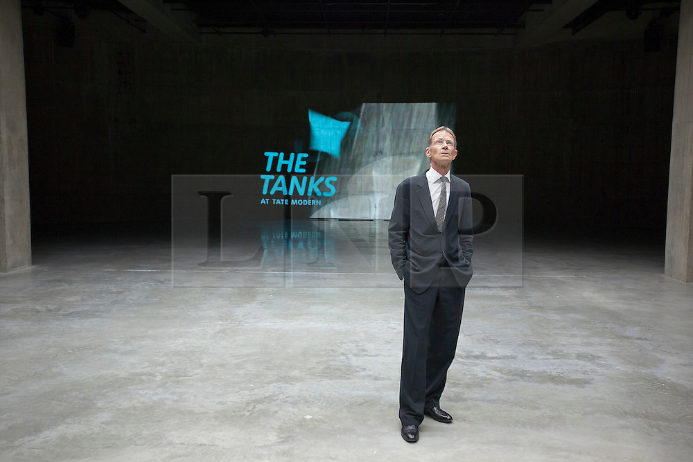 © Licensed to London News Pictures. 16/07/2012.  LONDON, UK. Sir Nicholas Serota, director of the Tate of stands in one of the gallery's new Tank Room exhibition spaces in London today (16/07/12). The new rooms, unveiled today mark the first phase of the Tate Modern Project and the beginning of the 15 week 'Art in Action' festival. Photo credit: Matt Cetti-Roberts/LNP