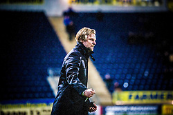 Steven Pressley, Falkirk manager, celebrates after Falkirk's Lewis Small scored Falkirk's second goal..Falkirk 2 v 1 Hamilton, 24/11/2012..©Michael Schofield.