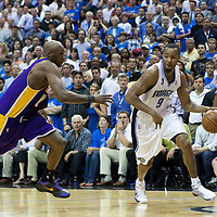 BASKET BALL - PLAYOFFS NBA 2008/2009 - LOS ANGELES LAKERS V ORLANDO MAGIC - GAME 3 -  ORLANDO (USA) - 09/06/2009 - .RASHARD LEWIS (MAGIC), LAMAR ODOM (LAKERS)