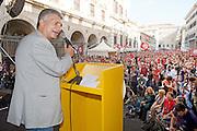 2013/05/11 Roma, manifestazione di Sinistra Ecologia e Liberta' dal titolo ? La cosa giusta ' . Nella foto Nichi Vendola..Rome, SEL (Left, Ecology and Freedom party) demonstration reading ' The right thing ' . In the picture Nichi Vendola - © PIERPAOLO SCAVUZZO