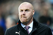 Burnley manager Sean Dyche during the Premier League match between Newcastle United and Burnley at St. James's Park, Newcastle, England on 31 January 2018. Photo by Craig Doyle.
