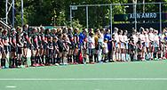 AMSTELVEEN  - Hockey -  2e wedstrijd halve finale Play Offs dames.  Amsterdam-Oranje Rood (2-1) . Line Up.     COPYRIGHT KOEN SUYK