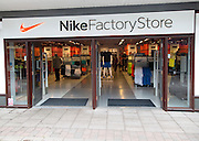 Nike Factory Store, Festival Park shopping centre, Ebbw Vale, Blaenau Gwent, South Wales, UK
