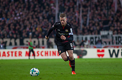 December 8, 2017 - Stuttgart, Germany - Leverkusens Lars Bender initiates a counter during the Bundesliga match between VfB Stuttgart and Bayer 04 Leverkusen at Mercedes-Benz Arena on December 8, 2017 in Stuttgart, Germany. (Credit Image: © Bartek Langer/NurPhoto via ZUMA Press)