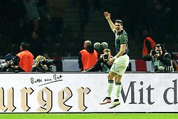 Germanys Mario Gomez celebrates after scoring his sides second goal - Mandatory by-line: Matt McNulty/JMP - 26/03/2016 - FOOTBALL - Olympiastadion - Berlin, Germany - Germany v England - International Friendly