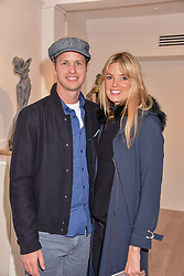 Sam & Isabella Branson at a private view of recent work by Georgiana Anstruther held at the Sladmore Gallery, 32 Bruton Place, London England. 08 November 2018. <br /> <br /> ***For fees please contact us prior to publication***