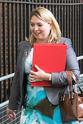 Downing Street, London, August 2nd 2016. Secretary of State for Culture, Media and Sport Karen Bradley leaves Downing Street following the Economic and Industrial Strategy Committee meeting. The committee is comprised of eleven cabinet ministers and has been set up by Prime Minister Theresa May to ensure that Britain is in the best position to successfully leave the European Union.