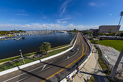 March 8, 2019 - St. Petersburg, Florida, U.S. - SANTINO FERRUCCI (19) of the United States goes through the turns during practice for the Firestone Grand Prix of St. Petersburg at Temporary Waterfront Street Course in St. Petersburg, Florida. (Credit Image: © Walter G Arce Sr Asp Inc/ASP)