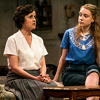 The Chalk Garden by Enid Bagnold;<br /> Directed by Alan Strachan;<br /> Emma Curtis (as Laurel);<br /> Amanda Root (as Miss Madrigal);<br /> Chichester Festival Theatre; Chichester.<br /> 30 May 2018.<br /> © Pete Jones<br /> pete@pjproductions.co.uk