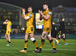 Josh Bassett of Wasps Will Rowlands of Wasps - Mandatory by-line: Alex James/JMP - 25/01/2020 - RUGBY - Sixways Stadium - Worcester, England - Worcester Warriors v Wasps - Gallagher Premiership Rugby