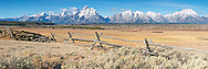 """Buckrail fence, Grand Tetons, new snow, October in Grand Teton National Park. Large file and can be printed @300 DPI 48 inches wide.<br /> <br /> For production prints or stock photos click the Purchase Print/License Photo Button in upper Right; for Fine Art """"Custom Prints"""" contact Daryl - 208-709-3250 or dh@greater-yellowstone.com"""