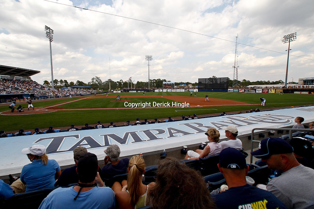 March 8, 2011; Port Charlotte, FL, USA; A general view during a spring training exhibition game between the Toronto Blue Jays and the Tampa Bay Rays at Charlotte Sports Park.  Mandatory Credit: Derick E. Hingle-US PRESSWIRE