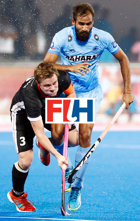 Odisha Men's Hockey World League Final Bhubaneswar 2017<br /> Match id:21<br /> India v Germany<br /> Foto: Mats Grambusch (Ger) in dual with Gurjant Singh (Ind) <br /> WORLDSPORTPICS COPYRIGHT KOEN SUYK