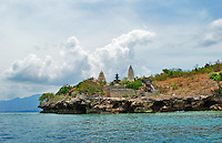 The Pemateran Island temple complex on a wild headland in Bali, Indonesia.