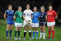 Rugby Union - 2018 Natwest Six Nations Launch Press Conference - Syon Park Hilton<br /> <br /> Womens Captans : l-r  Gaelle Hermet  of France, Ciara Griffin of Ireland, Sarah Hunter of England,Sara Barattin of Italy, Lisa Martin of Scotland and Carys Phillips of Wales<br /> <br /> COLORSPORT/ANDREW COWIE