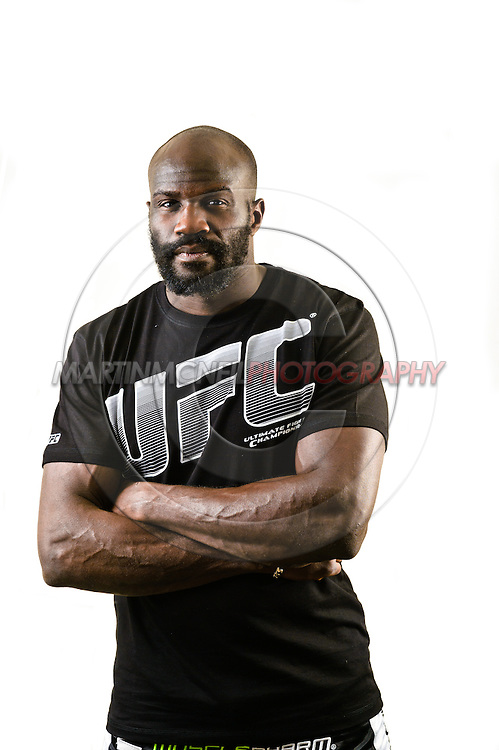 A portrait of mixed martial arts heavyweight athlete Cheick Kongo