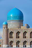 Ouzbékistan, Samarcande, classé Patrimoine Mondial de l'UNESCO, place du Reghistan, Medersa Tilla Kari, mosquée  // Uzbekistan, Samarkand, Unesco World Heritage, the Reghistan, Tilla Kari Madrasah, the mosk