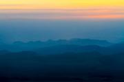 Israel, Negev Desert, Mitzpe Ramon at dawn