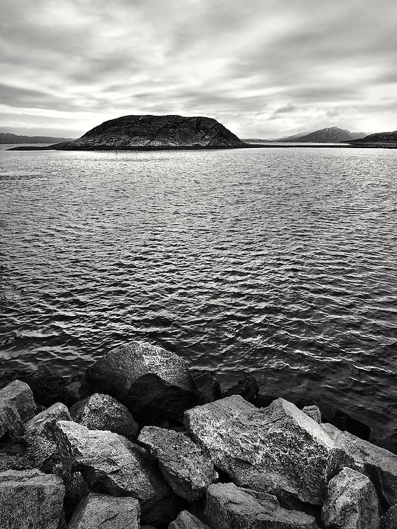 Norway -Trondheimfjord BW