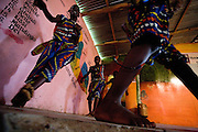 Young members of the Liberian Dance Troupe (LDT) perform traditional dancing at the Buduburam refugee settlement, roughly 20 km west of Accra, Ghana's capital, on Saturday April 14, 2007. One of the main goals of the LDT is to teach young refugee children, many of which have never seen Liberia, about their country's music, dance and culture. The Buduburam refugee settlement is still home over 30,000 Liberians, most of which have mixed feelings about returning to Liberia.