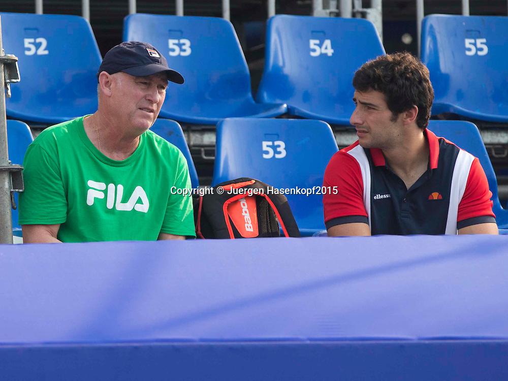 Monica Puig Trainer Ricardo Sanchez und Physio Carlos Garcia<br /> <br /> Tennis - PTT Thailand Open 2015 - WTA -  Dusit Thani Hotel - Pattaya - Chonburi - Thailand  - 11 February 2015.