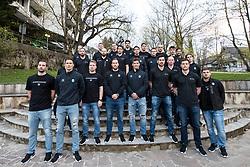 Team Slovenia at first practice of Slovenian National Ice Hockey team before IIHF Ice Hockey World Championship Division I Group A in Budapest, on April 17, 2018 in Ledena dvorana, Bled, Slovenia. Slovenia. Photo by Matic Klansek Velej / Sportida
