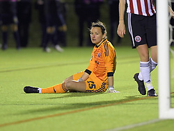 February 20, 2019 - Sheffield, United Kingdom - A despondent Nikki Davies (Sheffield United) after another Manchester United goal during the  FA Women's Championship football match between Sheffield United Women and Manchester United Women at the Olympic Legacy Stadium, on February 20th Sheffield, England. (Credit Image: © Action Foto Sport/NurPhoto via ZUMA Press)