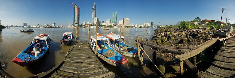 Vietnam Images-cityscape-Saigon-panoramic landscape