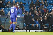 Thomas Christiansen Head Coach of Leeds United  during the EFL Sky Bet Championship match between Leeds United and Cardiff City at Elland Road, Leeds, England on 3 February 2018. Picture by Paul Thompson.