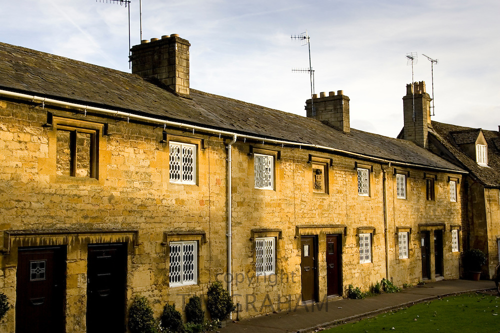Terraced cottages in Chipping Campden, Gloucestershire, United Kingdom
