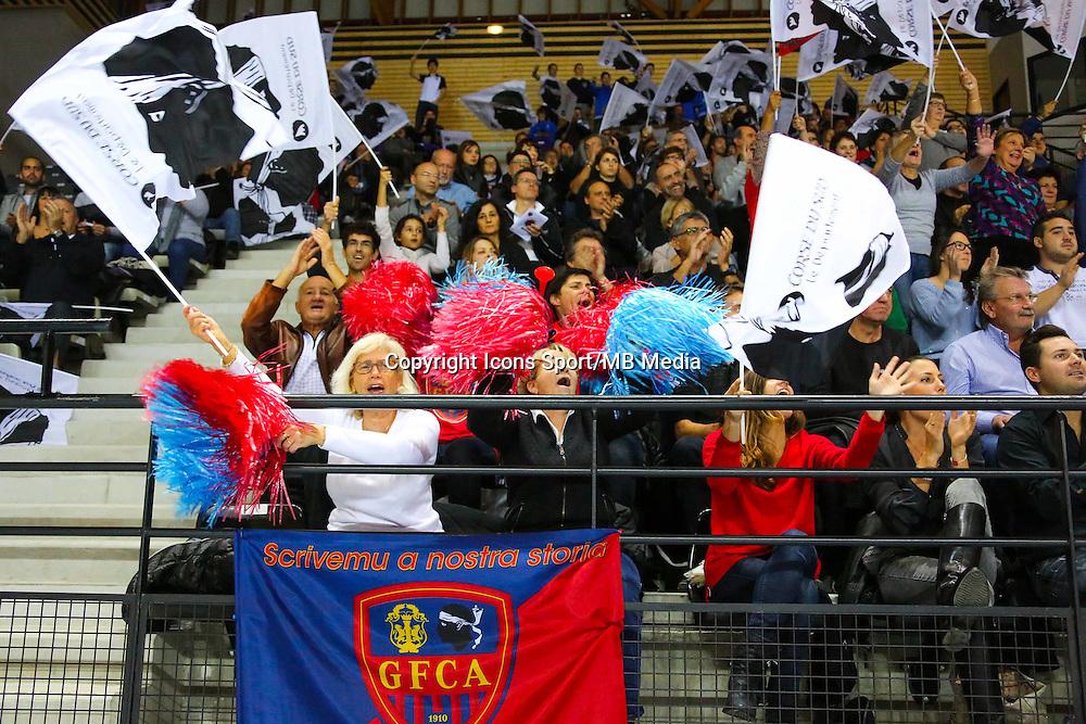 Illustration supporters Ajaccio - 04.12.2014 - Ajaccio / Izmir - 1/8finale Cev Cup<br />Photo : Jean Pierre Belzit / Icon Sport