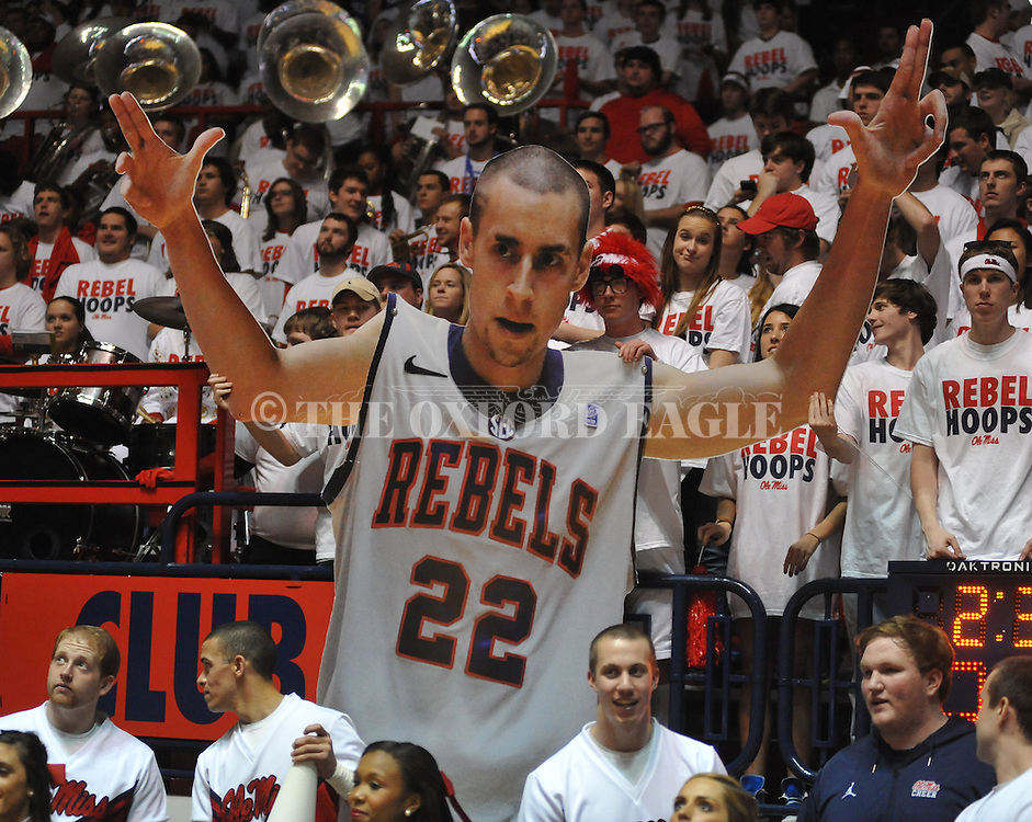 """A cutout of Ole Miss' Marshall Henderson (22) at the Ole Miss vs. Kentucky at the C.M. """"Tad"""" Smith Coliseum on Tuesday, January 29, 2013."""