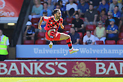 Walsall FC midfielder Erhun Oztumer (10) celebrates his goal Walsall 1-0 up during the EFL Sky Bet League 1 match between Walsall and AFC Wimbledon at the Banks's Stadium, Walsall, England on 6 August 2016. Photo by Stuart Butcher.
