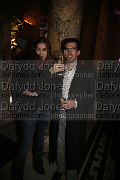 Suzy Mayer and James Brett, Party to celebrate the Christian Lacroix Fashion in Motion fashion show and the opening of  M/M Paris: Antigone Under Hypnosis part of  Paris Calling the UK-wide celebration of contemporary French culture. V. & A. London. 31 October 2006. -DO NOT ARCHIVE-© Copyright Photograph by Dafydd Jones 66 Stockwell Park Rd. London SW9 0DA Tel 020 7733 0108 www.dafjones.com