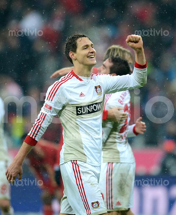 FUSSBALL   1. BUNDESLIGA  SAISON 2012/2013   9. Spieltag FC Bayern Muenchen - Bayer 04 Leverkusen    28.10.2012 Jubel Philipp Wollscheid (Bayer 04 Leverkusen)
