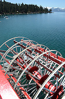 Paddles, MS Dixie II, paddle steamer, is the largest vessel on South Lake Tahoe. The lake itself is split vertically between Nevada in the East and California in the West. It traverses the lake from Zephyr Cove to Emerald Bay in California. The snow-capped mountains are in California. 201304261820<br /> <br /> Copyright Image from Victor Patterson, 54 Dorchester Park, Belfast, UK, BT9 6RJ<br /> <br /> Tel: +44 28 9066 1296<br /> Mob: +44 7802 353836<br /> Voicemail +44 20 8816 7153<br /> Skype: victorpattersonbelfast<br /> Email: victorpatterson@me.com<br /> Email: victorpatterson@ireland.com (back-up)<br /> <br /> IMPORTANT: If you wish to use this image or any other of my images please go to www.victorpatterson.com and click on the Terms & Conditions. Then contact me by email or phone with the reference number(s) of the image(s) concerned.