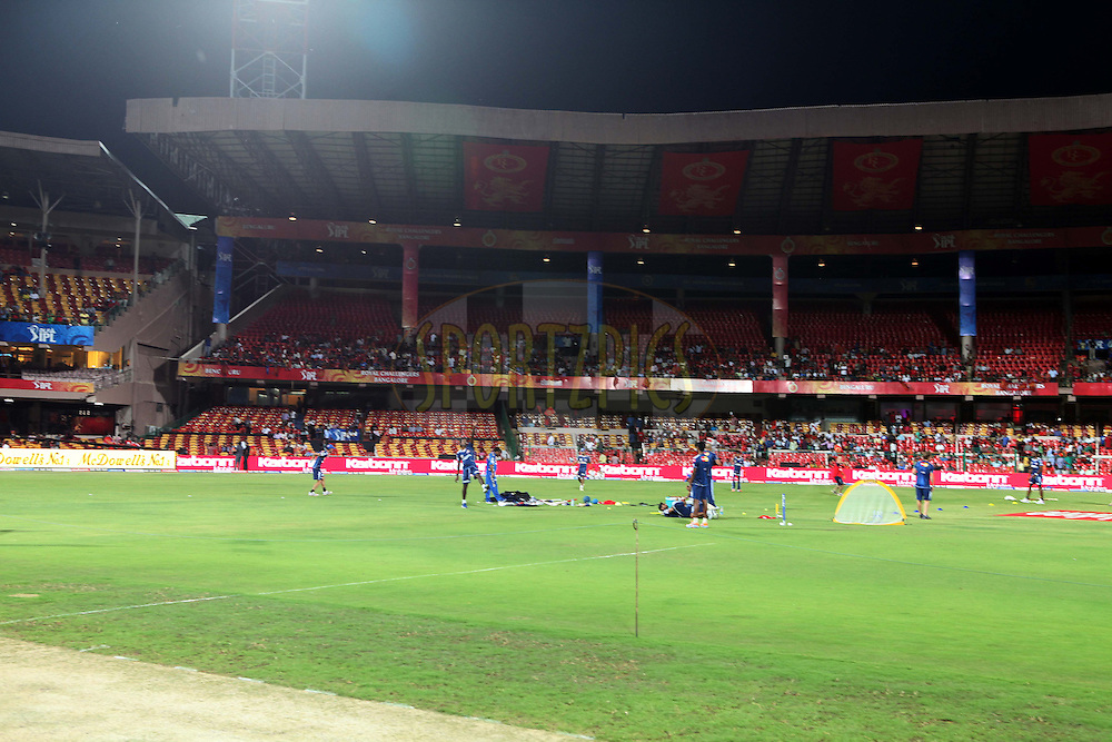 GV showing Stadium branding during match 8 of the the Indian Premier League ( IPL ) Season 4 between the Royal Challengers Bangalore and the Mumbai Indians held at the Chinnaswamy Stadium, Bangalore, Karnataka, India on the 12th April 2011..Photo by Ron Gaunt/BCCI/SPORTZPICS
