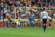 Hull City Midfielder Sam Clucas (11) score a goal 1-3 during the Premier League match between Hull City and Tottenham Hotspur at the KCOM Stadium, Kingston upon Hull, England on 21 May 2017. Photo by Craig Zadoroznyj.