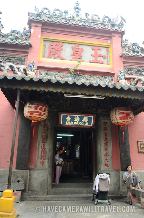 The main entrance to the Jade Emperor Pagoda in the Da Kao district of Ho Chi Minh City, Vietnam. The Chinese temple was built in 1909 and contains elements of both Buddhist and Taoist religions.