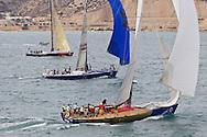 SPAIN, Alicante. 3rd November 2011. Volvo Ocean Race Legends Regatta. top to bottom Team Heiner, (ex Tyco), Cuba Libre, (ex Hieneken), and Ambersail, (ex Assa Abloy).