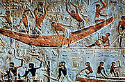 Egyptian boatbuilders: Mastaba (tomb) of Ti, Saqqara. 5th Dynasty.