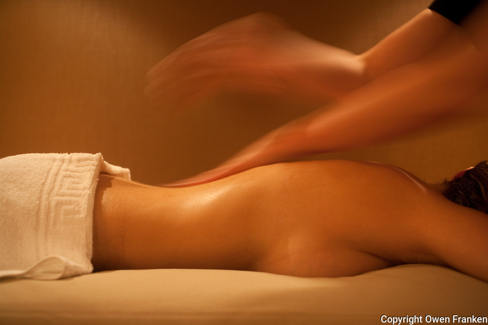 Massage in a thelassotherapy Spa - Photograph by Owen Franken