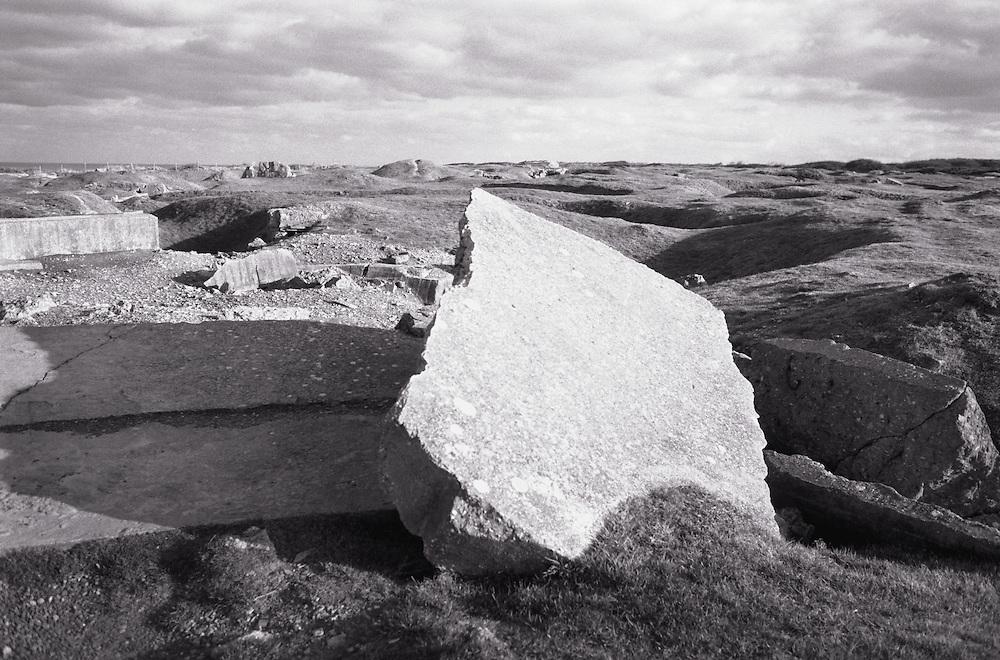 D-Day rubble, Pointe du Hoc