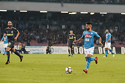 October 21, 2017 - Napoli, Napoli, Italy - Naples - Italy 21/10/2017.LORENZO INSIGNE of  S.S.C. NAPOLI   and IGLESIAS BORJA VALERO of  Inter  fights for the ball during Serie A  match between S.S.C. NAPOLI and Inter  at Stadio San Paolo of Naples. (Credit Image: © Emanuele Sessa/Pacific Press via ZUMA Wire)