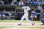 CHICAGO - JUNE 14:  Alexei Ramirez of the Chicago White Sox bats against the Kansas City Royals on June 14, 2014 at U.S. Cellular Field in Chicago, Illinois.   (Photo by Ron Vesely)
