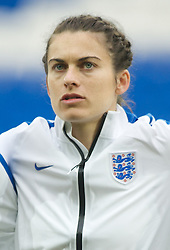 CARDIFF, WALES - Tuesday, August 21, 2014: England's Karen Carney lines-up before the FIFA Women's World Cup Canada 2015 Qualifying Group 6 match against Wales at the Cardiff City Stadium. (Pic by Ian Cook/Propaganda)