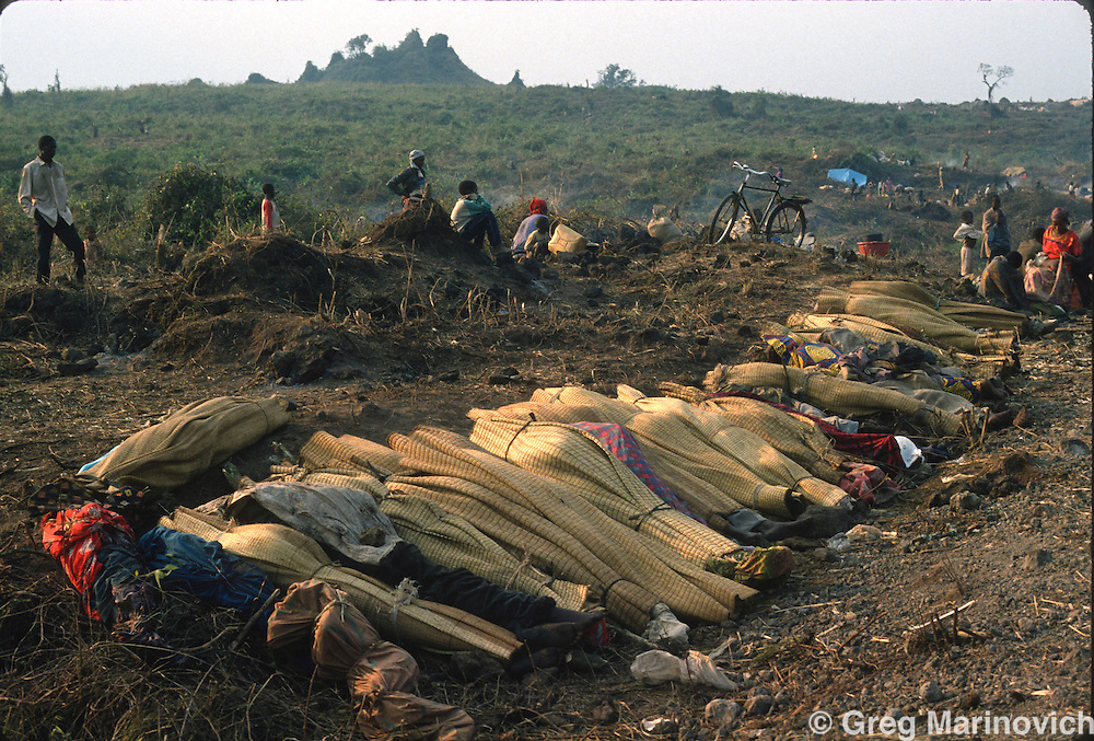 Goma, Zaire, Rwandan refugees escape RPF takeover that followed and stopped the genocide of Rwandan Tutsis and Hutu moderates by extremist Hutus. 1994. Greg Marinovich