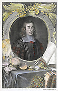 Thomas Willis (1621-75) English physician.  First in modern times to notice sweetish taste of diabetic urine in Diabetes mellitus.  Studied brain and nervous system. One of founders of the Royal Society.   Hand-coloured engraving by English printmaker Geo
